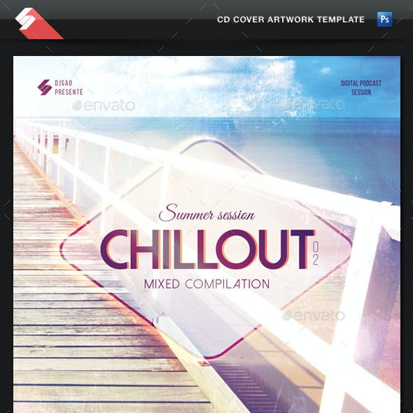 Summer Chillout Vol.2 - CD Cover Template
