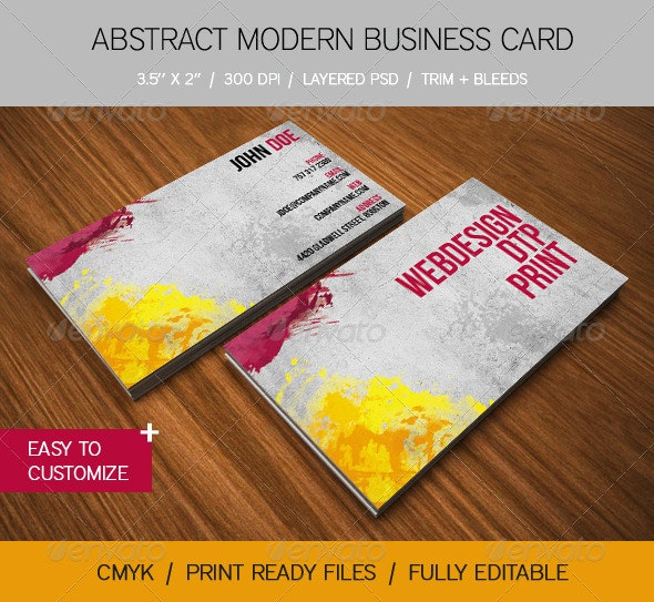 Abstract Modern Business Card - Creative Business Cards