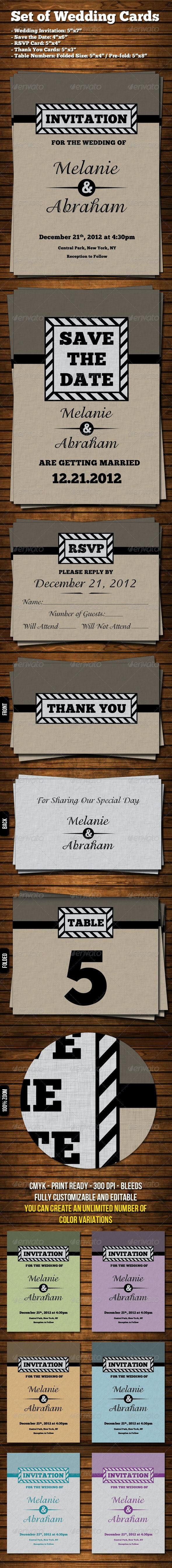 Wedding Invitation Set - Weddings Cards & Invites
