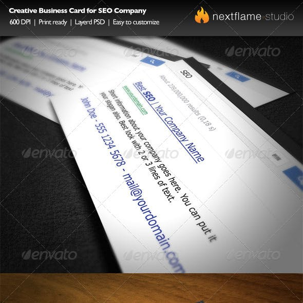 Creative Business Card for SEO Company