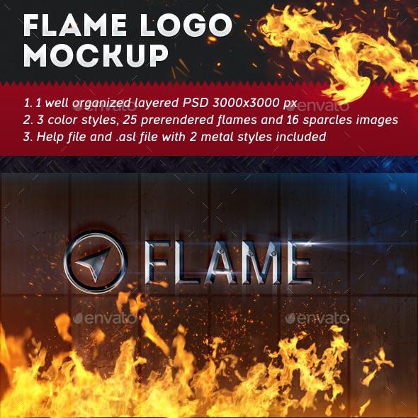 Flame Logo Mockup