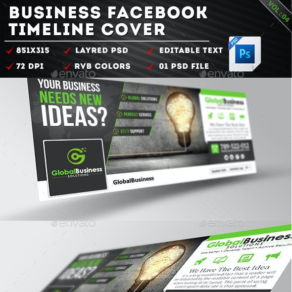 Corporate Business Facebook Timeline Covers Vol 04