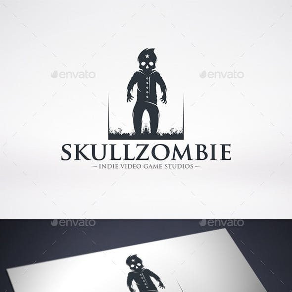 Skull Zombie Logo Template