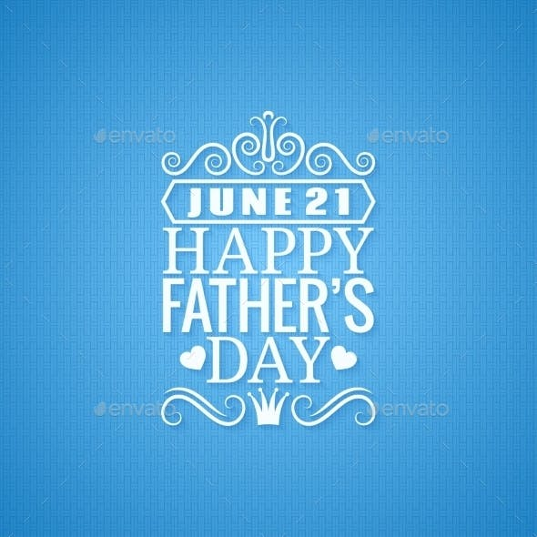 Fathers Day Vintage Design Background