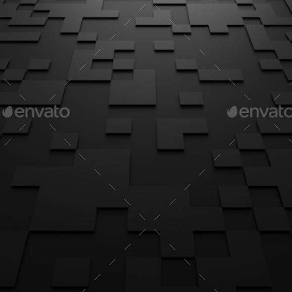 3D Rendering Of Futuristic Surface With Squares