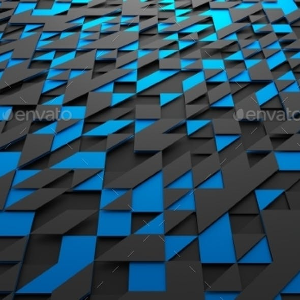 Abstract Futuristic Surface With Triangles