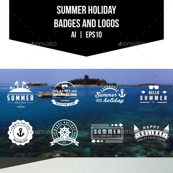 Summer Holiday Badges and Logos