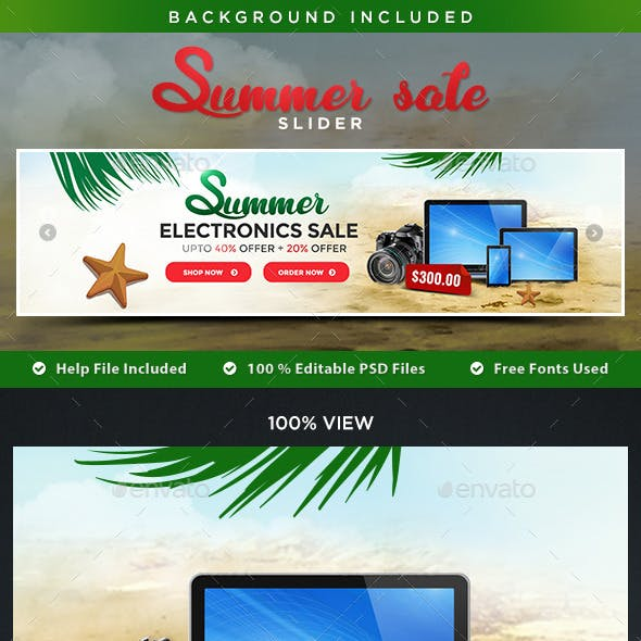 Summer Sale Slider