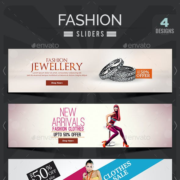 Fashion Sale Sliders - 4 Designs