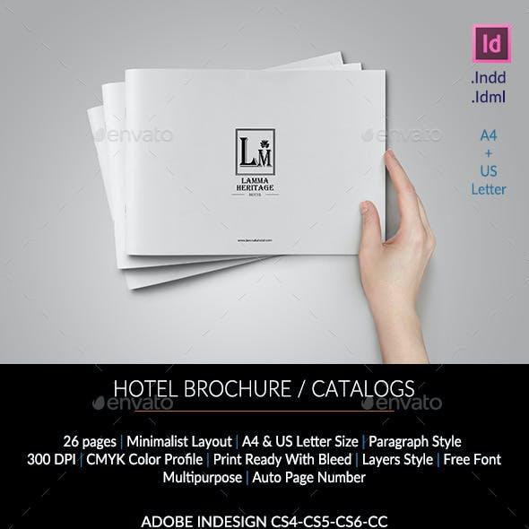 Hotel Brochure / Catalogs