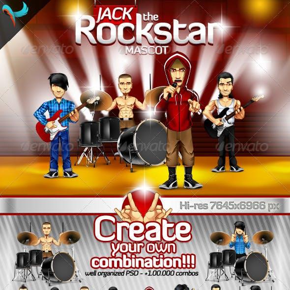 Editable Rockstar - Rockband Mascot