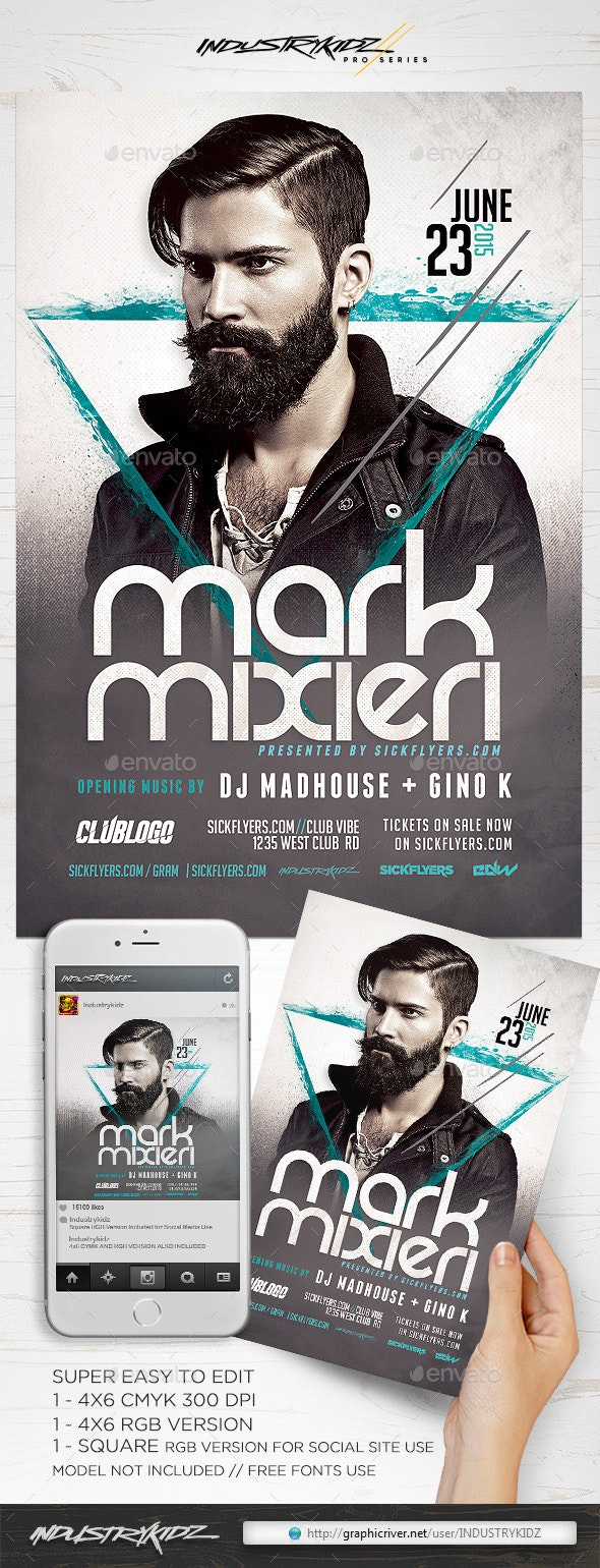 DJ Flyer Template  - Clubs & Parties Events
