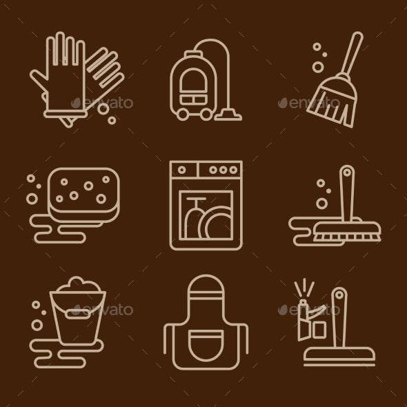 Vector Icons Cleaning