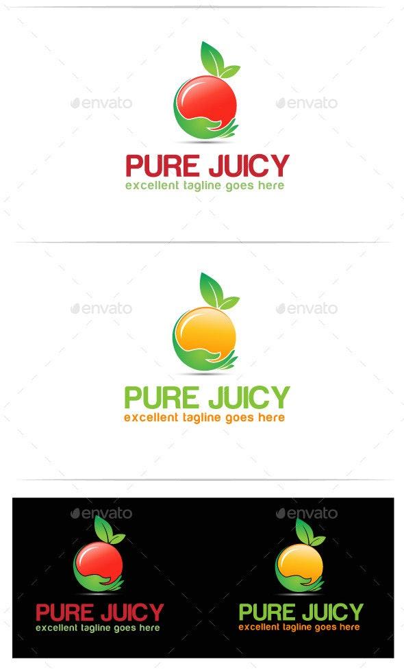 pure juicy - Food Logo Templates