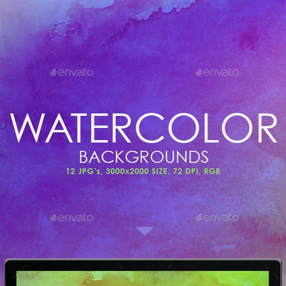 12 Real Watercolor Backgrounds