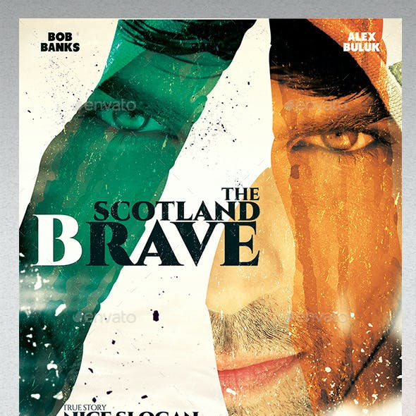 A3 Poster Film Template The Scotland Brave