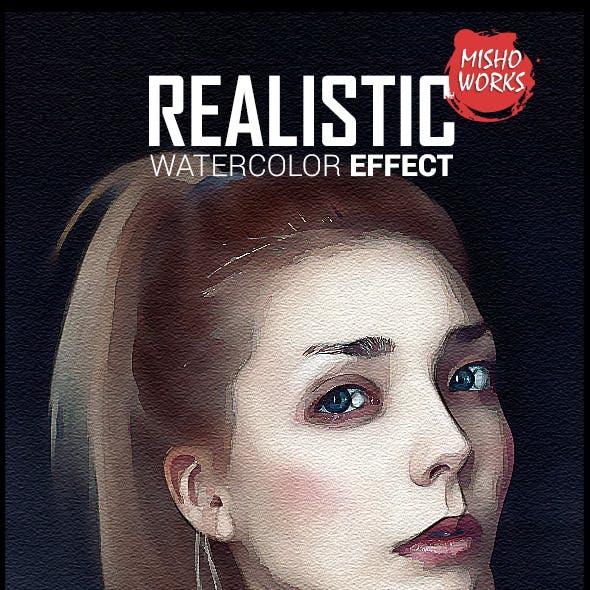 Realistic Watercolor Effect