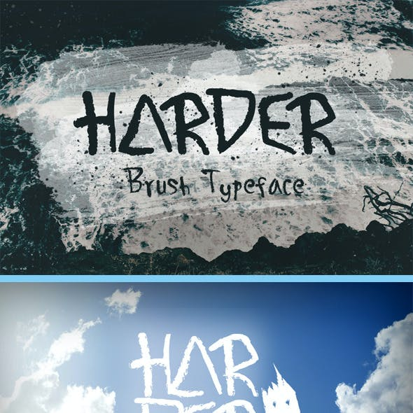 Harder Brush Typeface