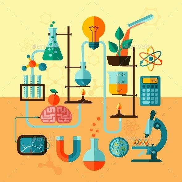 Scientific Research Laboratory Template Poster - Backgrounds Decorative