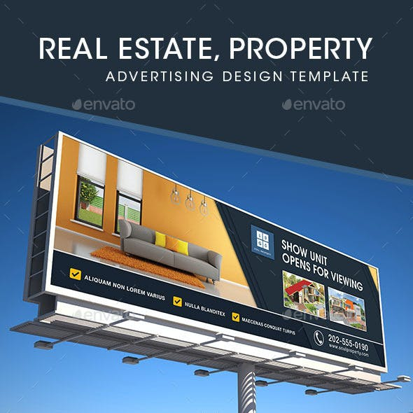 Real Estate - Billboard, Backdrop & Rollup Design