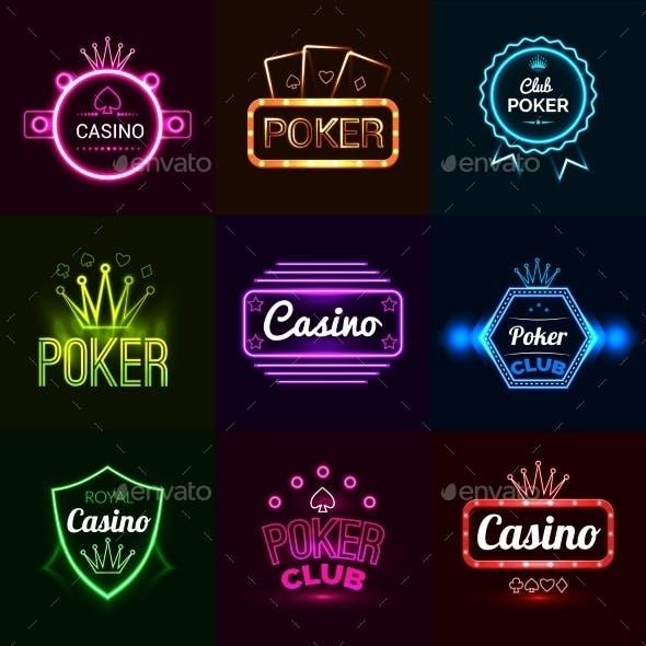 Neon Casino Emblems
