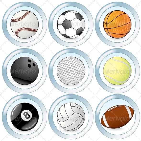 Sport Buttons - Sports/Activity Conceptual