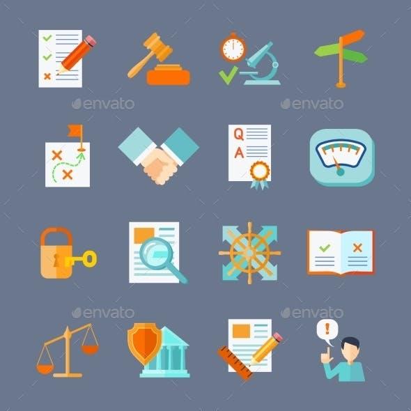 Legal Compliance Icons Set
