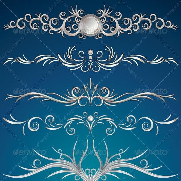 Silver Ornament - Characters Vectors