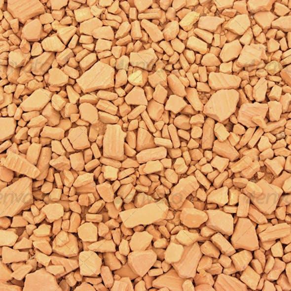 Brick chips path