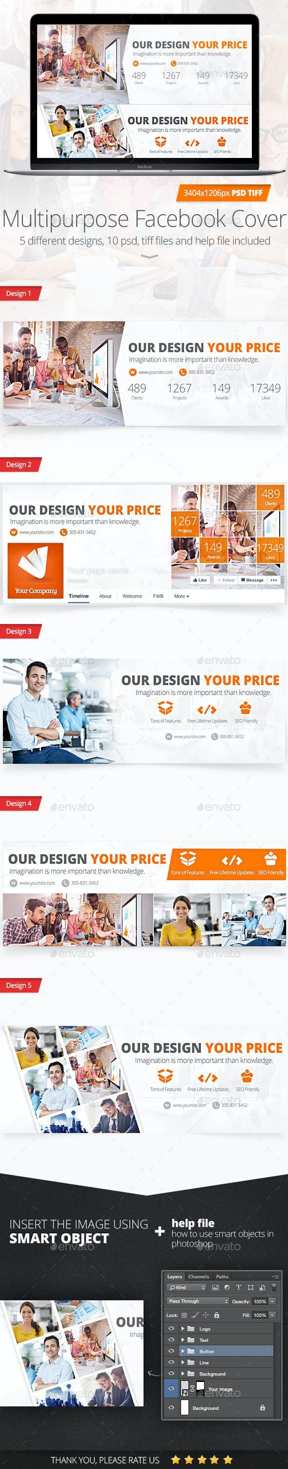 Multipurpose Facebook Timeline Cover - Facebook Timeline Covers Social Media