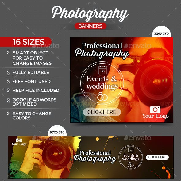 Photography Banner Graphics Designs