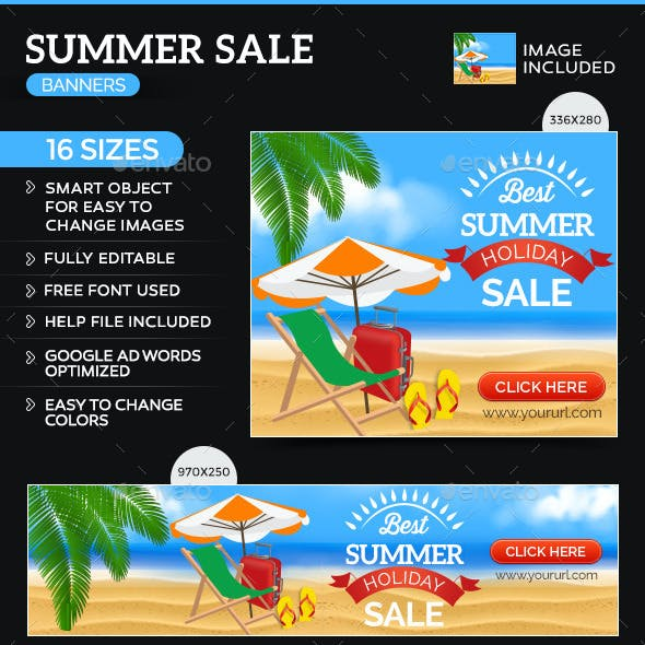 Summer Holiday Sale Banners