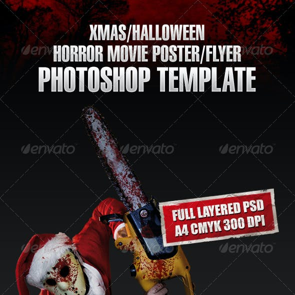 Xmas Horror Flyer Template