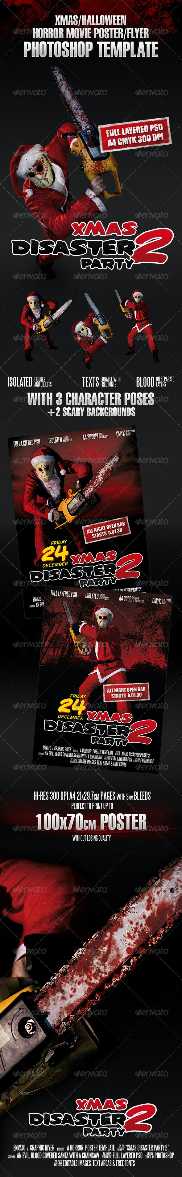 Xmas Horror Flyer Template - Clubs & Parties Events