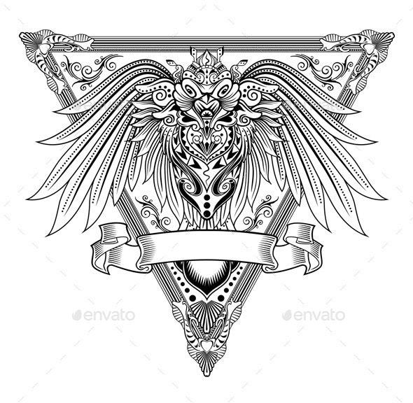 Owl Abstract Illustration
