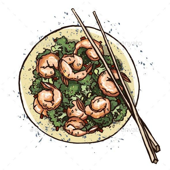 Seafood Prawn Salad