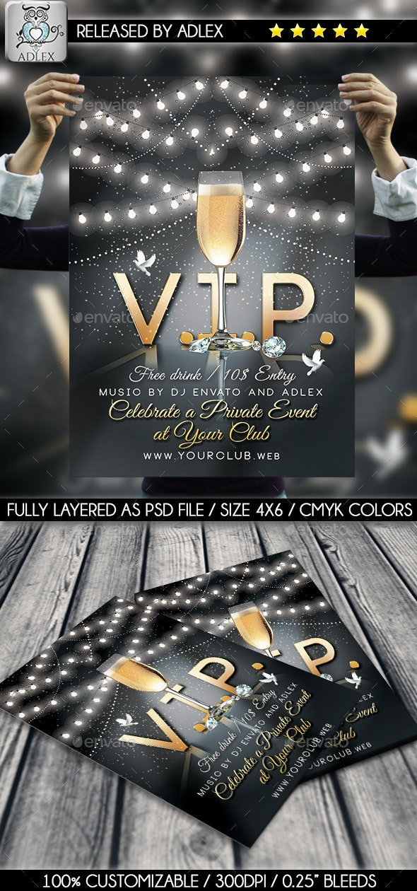 V.I.P. Party Flyer - Clubs & Parties Events