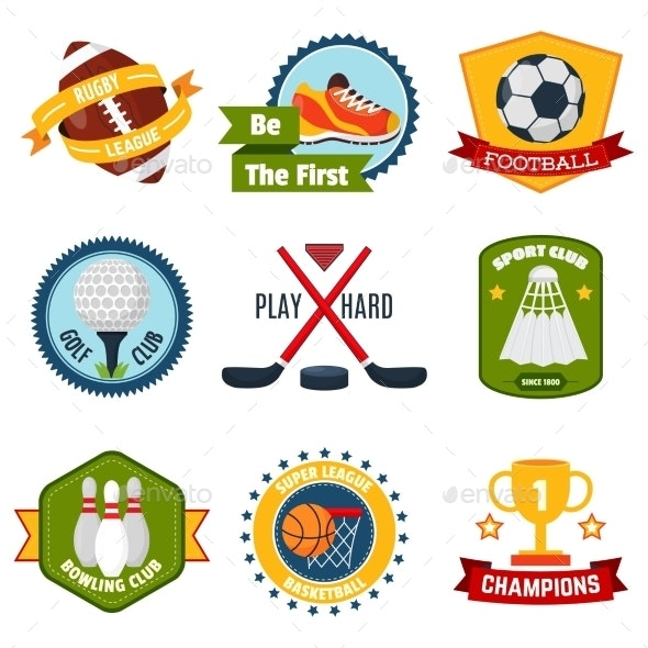 Sports Logo Set - Sports/Activity Conceptual