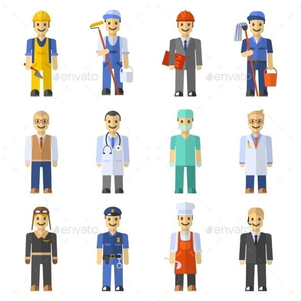 Profession People Set