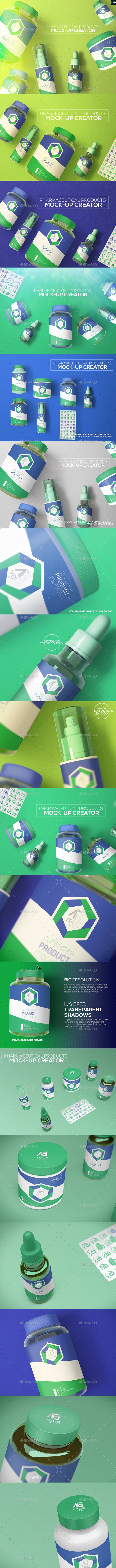 Pharmaceutical Products Mock-up  - Miscellaneous Product Mock-Ups