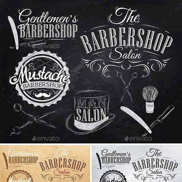 Set Barbershop retro