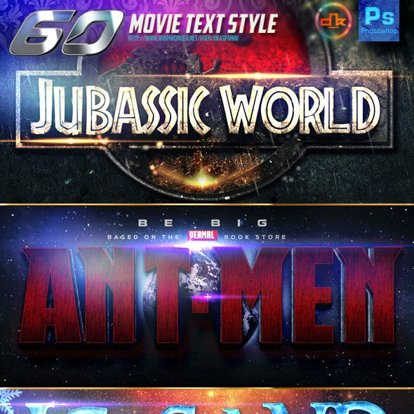 60 Movie Text Style Bundle