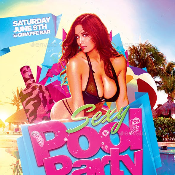 Sexy Pool Party Flyer Template