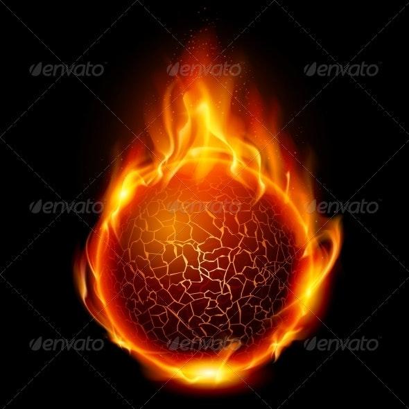 Fire Ball - Abstract Conceptual
