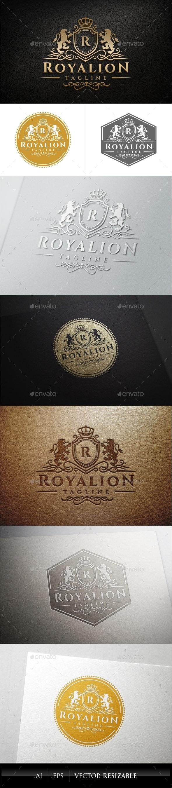Royal Lion Logo Template - Crests Logo Templates