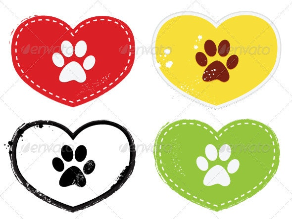 Paw Print icons - Animals Characters