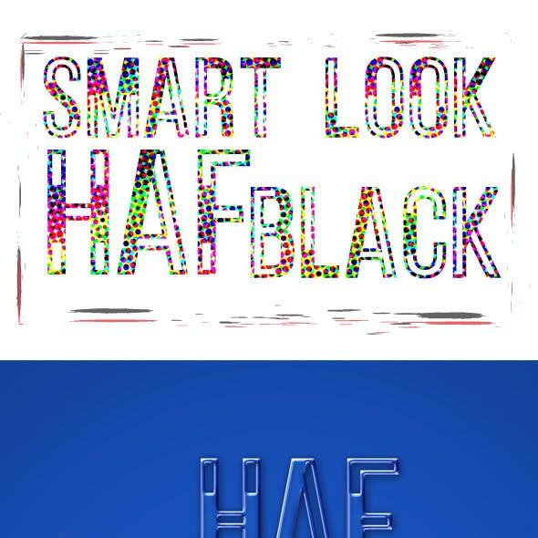 Half Black Font