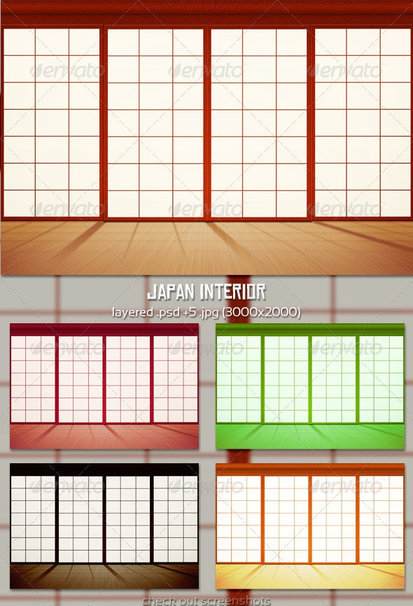 Japan Interior - Backgrounds Graphics