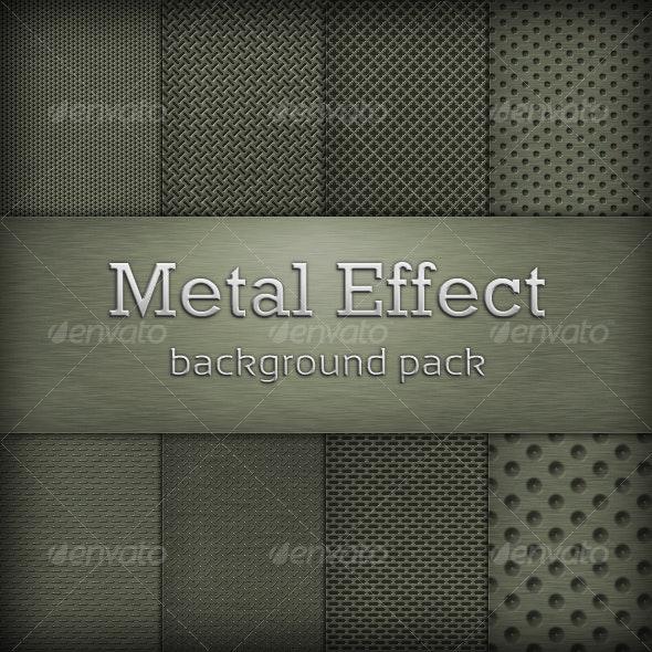 Metal Effect Background Pack - Metal Textures