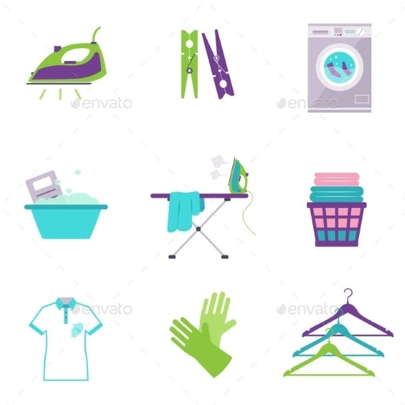 Cleaning Tools Icons